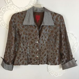 JS Collections Embroidered Jacket Formal Plus 16